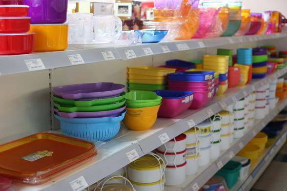 Háztartási cikkek műanyag termékek